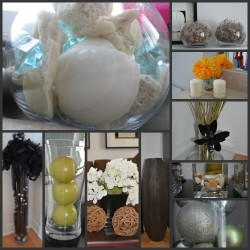 filling vases collage