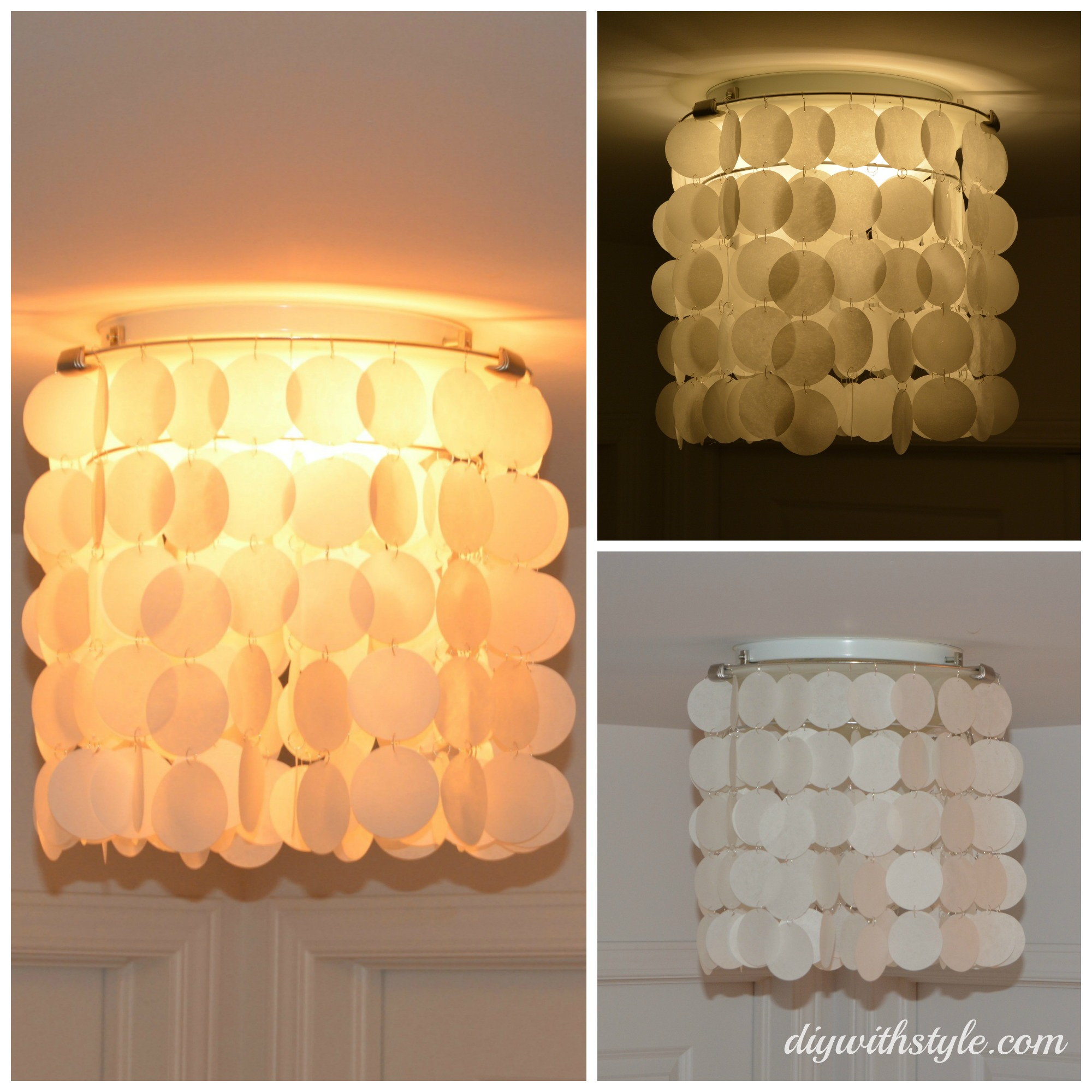 Capiz Shell Inspired Chandelier Diy With Style
