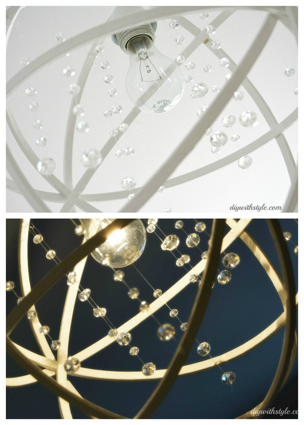 UPCOMING POST DIY ORB CHANDELIER DIY With Style – Diy Orb Chandelier